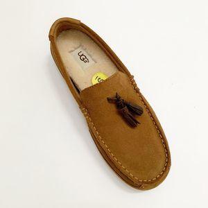 UGG Marris Tassel Loafer Slip On Suede Chestnut 9